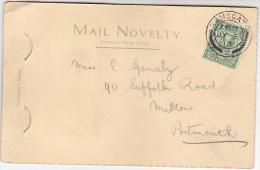 1913 GB GV Stamps COVER RAMSGATE CDS Pmk (Ramsgate 12 Views Novelty Postcard) - 1902-1951 (Rois)