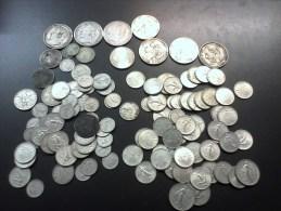 LOT DE 870 GRAMMES D ' ARGENT - 5 FRS ECU - 100 FR - 2 FRS SEMEUSE - 1 FRS SEMEUSE - 0.50 CTS SEMEUSE - - Coins & Banknotes