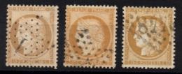 R-13: FRANCE: Lot Avec N°59 (3) 1er Choix - 1871-1875 Ceres