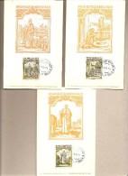 SMOM - 3 Cartoline Maximum Con Serie Completa: Natale  - 1973 - Malte (Ordre De)