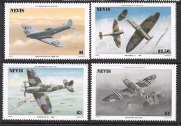 Nevis Scott   460-63 50th Ann. RAF  Mint NH  VF   CV 3.75 - Militaria