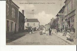 Saint-Père-sous-Vezelay  89    La Rue Du Pont-Tres Tres Animée-Epicerie-Mercerie-Journaux - France