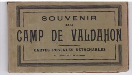 Souvenir Du Camp De Valdahon Carnet De 9 Cartes (manquent 3 Cartes) - France