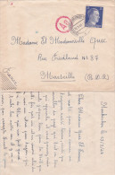 1943 Lettre De NEUKIRCHEN Allemagne  > Marseille - TRAVAILLEURS - Prisonniers - Enveloppe + CORRESPONDANCE 2 Pages - WW2 (II Guerra Mundial)