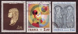 FRANCE - 1976 - YT  N° 1867 / 1869  - Oblitérés - Oeuvres D'Arts - Série Complète - France