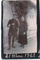 Moissey 1922 Militaire Gendarme ? Photo C.5x7,5cm 2scan - War, Military