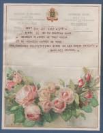 JOLI TELEGRAMME ROYAUME DE BELGIQUE - ILLUSTRATEUR A. TINOT - FLEURS PIVOINES OU ROSES - B. ?? (F.V.) GENT - Stamped Stationery