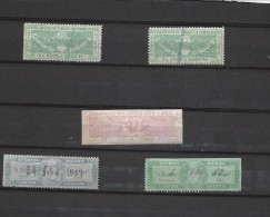 Timbres De Commerce Stempel Marke 5 Exemplaires 2x Fribourg 2x Luzern 1x Genève - Suisse