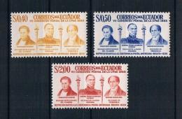 Ecuador 1957 Postkongreß Mi.Nr. 938/40 Kpl. Satz ** - Ecuador