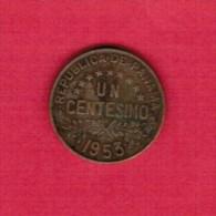 PANAMA   1 CENTESIMO 1953 (KM # 17) - Panama