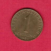 AUSTRIA   1 SCHILLING 1981 (KM # 2886) - Austria
