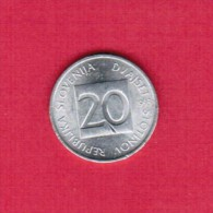 SLOVENIA  20 STOTINOV 1993 (KM # 8) - Slovenia