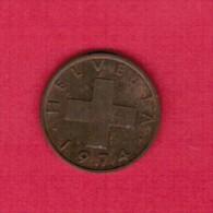 SWITZERLAND  2 RAPPEN 1974 (KM # 47) - Switzerland