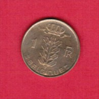 BELGIUM  1 FRANC (FRENCH) 1956  (KM # 142.1) - 04. 1 Franc