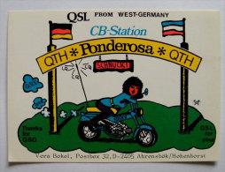 Kt 692 / QSL Card, Radio Amateur, Sexy Motobike - Motorbikes