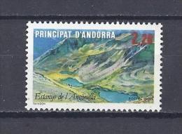 ANDORRE. YT 351 Tourisme. Lac D'Angonella 1986 Neuf ** - Andorre Français