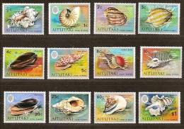 Aitutaki1974  Yvertnr. 96-106 *** MNH Cote 23,50 Euro Faune Coquillages Schelpen - Aitutaki