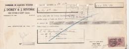 Lettre Change 20/12/1940 J DOREY & J RIVOIRE Manches Outils LES COTES D'AREY Isère Pour Grenoble - Lettres De Change