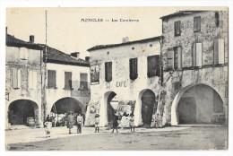 Cpa: 47 MONCLAR (ar. Villeneuve Sur Lot) Les Cornières (animée, Café) - France