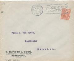 637/22 - NEDERLAND - Lettre TP 6 Cents PERFORE D.B.§ Z. ROTTERDAM 1931 - Entete D. Burger § Zoon - 1891-1948 (Wilhelmine)