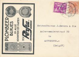 639/22 - NEDERLAND - Carte Privée Illustrée DELFT 1934 - Entete Verzegeling N.V. Perfra Patent - 1891-1948 (Wilhelmine)