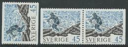1970 SVEZIA TRASPORTO FLUVIALE DEL LEGNAME MNH ** - ZX12 - Nuovi