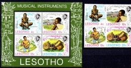 SS6526 - LESOTHO 1975 FDC Musical Instruments 174-177 ***  MNH. - Lesotho (1966-...)