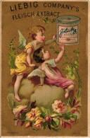 1 Karten Liebig Company Fleisch Extract German  S106, Arnold 46 - Engel I Auf Wolken Sitzend BILD05 Engel Rosa Und Gelb - Liebig