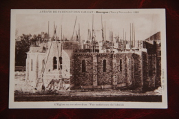 """DOURGNE - Novembre 1932,L""""Eglise En Construction, Vue Extérieur De L'Abside - Dourgne"""
