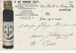 642/22 - NEDERLAND - Carte Illustrée En Couleurs - HAARLEM Olie De Koning Tilly - TP Kleinrond KATS 1903 - 1891-1948 (Wilhelmine)