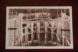 """DOURGNE - Novembre 1932,L""""Eglise En Construction, Vue Intérieure De L'abside - Dourgne"""