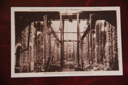 """DOURGNE - Novembre 1932,L""""Eglise En Construction, Vue Générale De L'intérieur - Dourgne"""