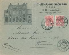 643/22 - NEDERLAND - Lettre Illustrée Avec Son Contenu - Hotel De Gouden Zwaan à TILBURG 1906 - 1891-1948 (Wilhelmine)