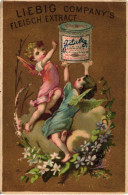 1 Karte Liebig Company Fleisch Extract S106, Arnold 46 - Engel I BILD06 Engel Rosa Und Blau, Topf Oben - Liebig