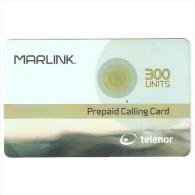 Norway-Marlink 300units Satellite Prepaid Card Exp.date 31/12/2004.mint - Norwegen