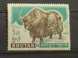 Bhutan 1962 Wild Yak Animals Mnh - Bhutan