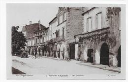 VERTEUIL D' AGENAIS - N° 4 - LES CORNIERES AVEC PERSONNAGE A VELO ET VIEILLE VOITURE - CPA NON VOYAGEE - France