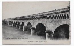 AGEN - N° 217 - LE PONT CANAL - CPA NON VOYAGEE - Agen