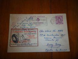 BC8-2-10 Publibel Obl. N° 634  ( F Paques Spécialiste Du Pneu ) Obl: Liège - Enteros Postales