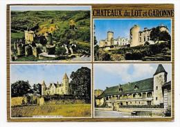CHATEAUX DU LOT ET GARONNE EN 1977 - MULTIVUES - CPSM GF VOYAGEE - France