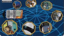 TELECARTE PHONECAR CHIP CARTE A PUCE DE DEMONSTRATION  SCHLUMBERGER TECHNOLOGIES NORTH AMERIQUE CHINE A Multi Applicatio - France