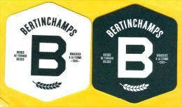 2 S/b Bière Bertinchamps - Beer Mats