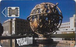 TELECARTE PHONECAR CHIP CARTE A PUCE DE DEMONSTRATION  SCHLUMBERGER T TELE COM  MONTROUGE GLOBE TERRESTRE SCULPTURE - Francia