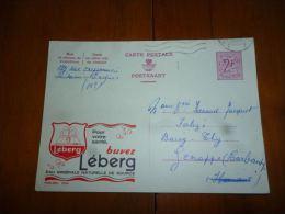 BC8-2-10 Publibel Obl. N° 2050 (  Eau Minérale Leberg  ) Obl: Oostende - Stamped Stationery