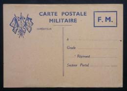 CARTE POSTALE DE FRANCHISE MILITAIRE  Drapeaux Neuve - Marcophilie (Lettres)