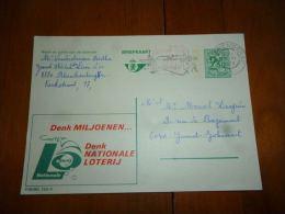 BC8-2-10 Publibel Obl. N° 2502 N  (  Naionale Loterij Loterie Nationale ) Obl: Blankenberge - Stamped Stationery