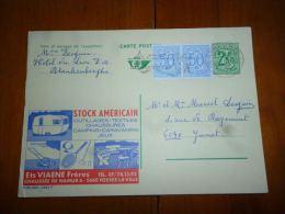 BC8-2-10 Publibel Obl. N° 2492 F  (  Stock Américain Ets Viaene Fosses La Ville ) Obl: Blankenberge - Stamped Stationery
