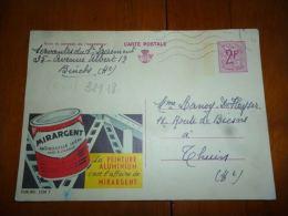 BC8-2-10 Publibel Obl. N° 2338 F  (  Peinture Mirargent ) Obl:  Binche ? - Stamped Stationery