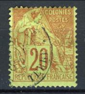 Colonie Francesi, Emissioni Generali 1881 N. 52 C. 20 Rosso Mattone E Verde  Annullo Basse Terre-Guadeloupe - Alphee Dubois