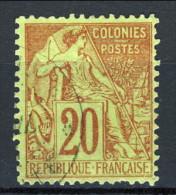 Colonie Francesi, Emissioni Generali 1881 N. 52 C. 20 Rosso Mattone E Verde Annullo Basse Pointe-Martinique - Alphee Dubois
